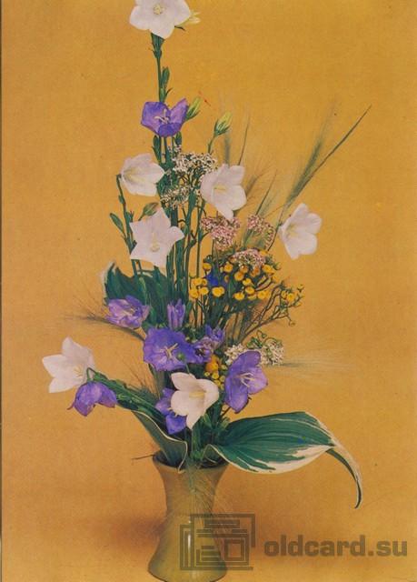 Композиция из цветов — Белые и фиолетовые цветы в вазе ...